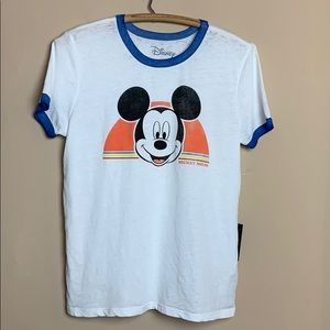 Disney Mickey Mouse Burnout Ringer Tee